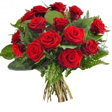 Bouquet de 15 Roses Rouges