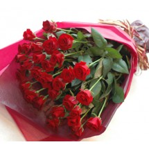 Bouquet de 05 Roses Rouges