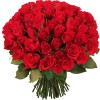 Bouquet de 100 Roses Rouges