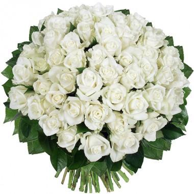 Bouquet de 30 Roses Blanches
